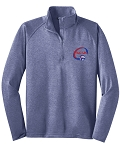 SCVA Embroidered Light Dri Fit Quarter Zip Pullover