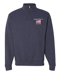 Embroidered EST. Volleyball Quarter Zip Pullover