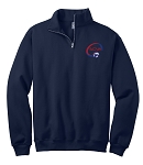 SCVA Embroidered Full Zip Cadet Collar Sweatshirt