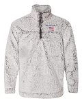 Embroidered EST. Volleyball Sherpa Quarter Zip Pullover
