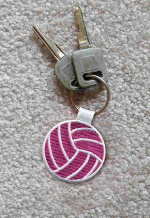 Embroidered Volleyball Key Chain (ON Back order until December 15th)