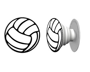 """Volleyball"" Pop Phone Grip - 2 for $10 FREE SHIPPING"