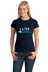 """I Live Volleyball"" Tee"
