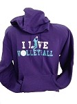 I Live Volleyball Sweatshirt