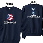 2014 SCVA USA Volleyball - World League Crew Sweatshirt
